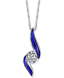 Sirena® Jeans Diamond Twist Pendant Necklace (1/10 ct. t.w.) in 14k White Gold