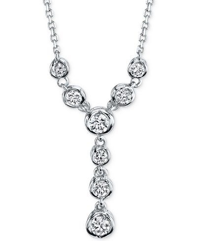 Sirena Energy Diamond Lariat Necklace (1/4 ct. t.w.) in 14k White or Yellow Gold