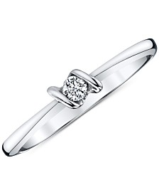 Sirena Diamond Accent Ring in 14k White Gold