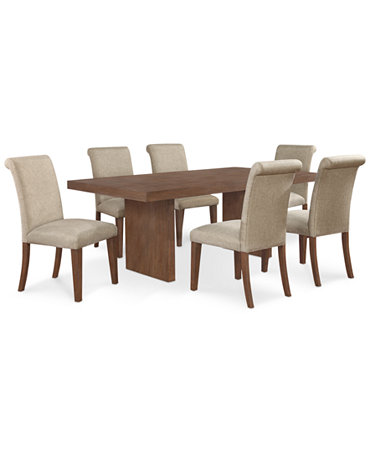 Pc Dining Set Dining Table And 6 Chairs Furniture Macy 39 S