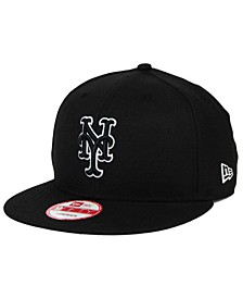 New York Mets Black White 9FIFTY Snapback Cap