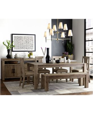 "4 Chair Dining Sets canyon 6 piece dining set, created for macy's, (72"" dining table"