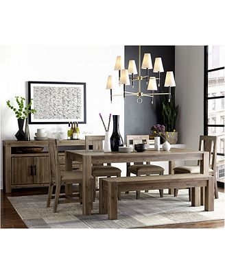 Furniture Canyon 6 Piece Dining Set Created For Macys 72 Dining Table