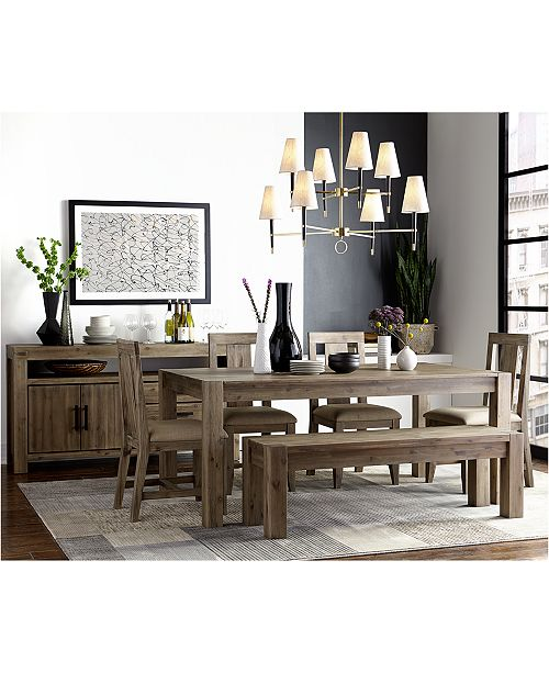 Swell Canyon 6 Piece Dining Set Created For Macys 72 Dining Table 4 Side Chairs Bench Pdpeps Interior Chair Design Pdpepsorg