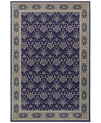 "Richmond Lillahan Navy/Grey 1'10"" x 3' Area Rug"