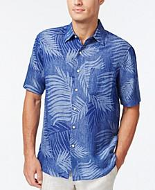 Tropical Print Silk Linen Blend Short-Sleeve Shirt, Created for Macy's