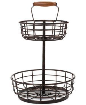 Gourmet Basics by Mikasa 2-Tier Wire Basket