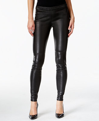 Michael Kors Faux Leather Leggings Amp Reviews Pants