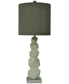 Crestview Block Ceramic Table Lamp