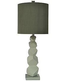 Crestview Block Ceramic Table Lamp