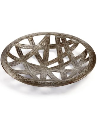 Recycled Metal Round Ribbon Cutout Tray
