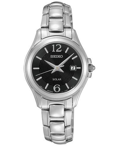 Seiko Women's Solar Dress Stainless Steel Bracelet Watch 27mm SUT249