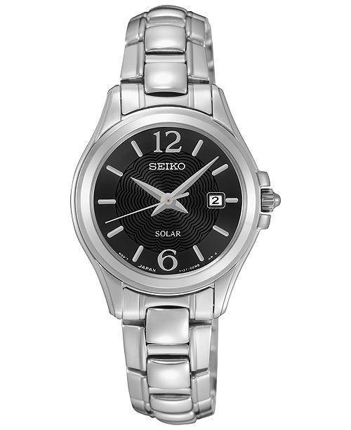 Women's Solar Dress Stainless Steel Bracelet Watch 27mm SUT249