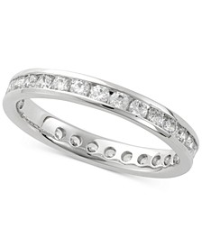 Diamond Channel Set Eternity Band (1 ct. t.w.) in 14k White Gold