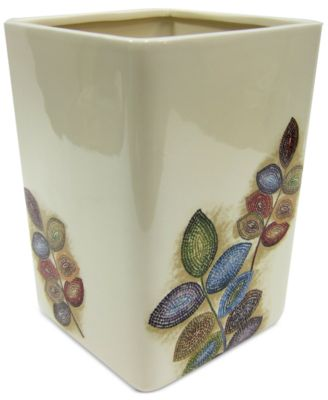 Bath Mosaic Leaves Wastebasket