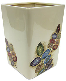 Croscill Bath Mosaic Leaves Wastebasket