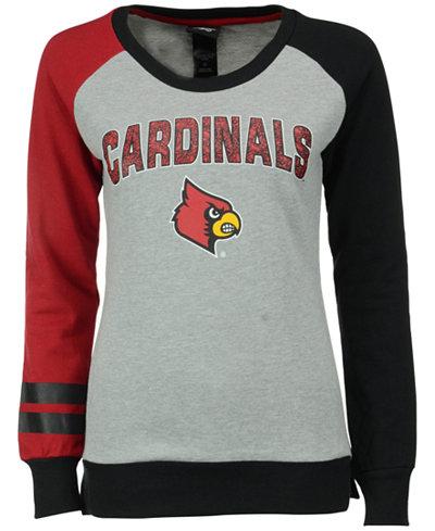 adidas Girls' Louisville Cardinals Crew Fleece Sweatshirt