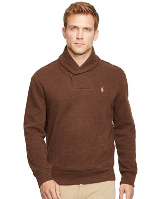 Polo Ralph Lauren French-Rib Shawl Pullover Sweater - Sweaters ...