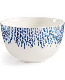 Martha Stewart Collection Porcelain Stockholm Cereal Bowl, Created for Macy's