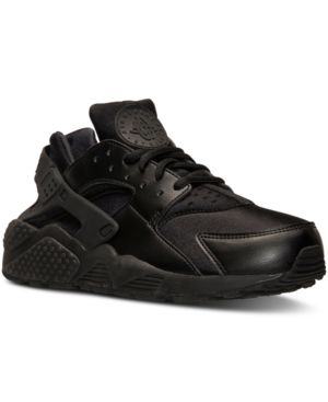 Women'S Air Huarache Run Running Sneakers From Finish Line in Black/Black