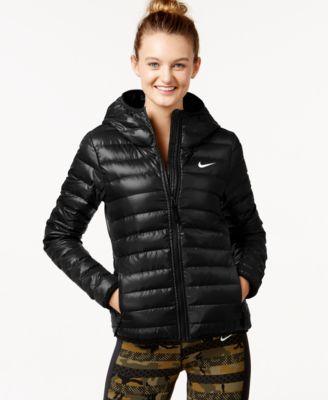 Nike black puffer jacket women's