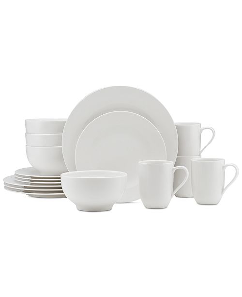 Villeroy & Boch Dinnerware For Me Collection Porcelain 16 Piece Place Setting, Service for 4