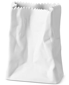 """Porcelain White Bag Tütenvase Mini 3.5"""" Vase"""
