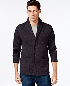 Men's Sweater Knit Fleece Cardigan