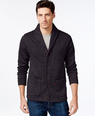 Levi's® Rand Shawl-Collar Cardigan - Sweaters - Men - Macy's