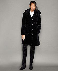 The Fur Vault Hooded Sheared Beaver Fur Coat