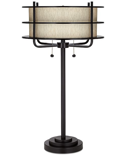 Kathy Ireland Pacific Coast Ovation Bronze Table Lamp