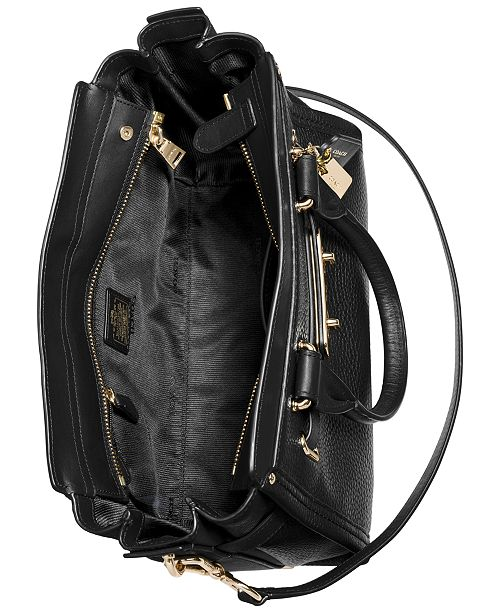 COACH Swagger 27 in Pebble Leather - Handbags   Accessories - Macy s 22043483fd