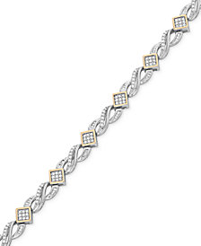 Wrapped In Love™ Diamond Infinity Bracelet (1 ct. t.w.) in 14k Gold and Sterling Silver, Created for Macy's