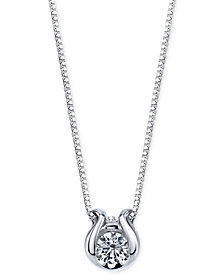 Sirena Diamond Accent Pendant Necklace in 14k White Gold