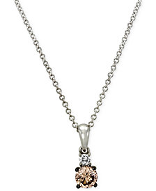 Le Vian Chocolatier® Diamond Pendant (1/3 ct. t.w.) in 14k White Gold