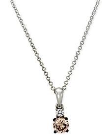 Le Vian Chocolatier® Diamond Pendant (1/3 ct. t.w.) in 14k White Gold