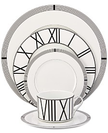 Mikasa Dinnerware Bone China 5-Pc. Winslet Black Place Setting