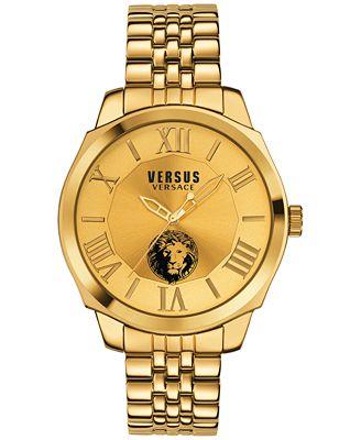 versus by versace men s chelsea gold tone ion plated stainless versus by versace men s chelsea gold tone ion plated stainless steel bracelet watch 42mm