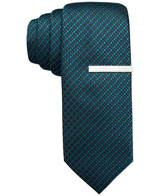 Alfani North Neat Skinny Tie, Only at Macy's