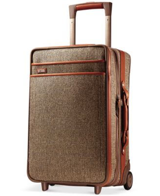 """Tweed Collection 21"""" Carry On Expandable Rolling Suitcase"""