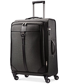 "CLOSEOUT! Hartmann Herringbone Luxe 25"" Medium Journey Expandable Spinner Suitcase"