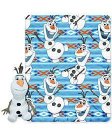 Frozen Olaf Throw and Character Pillow Set