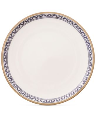 Artesano Provencal Lavender Collection Porcelain White Well Dinner Plate