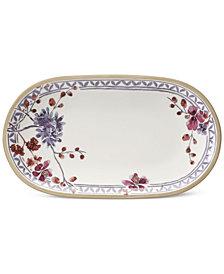 Villeroy & Boch Artesano Provencal Lavender Collection Porcelain Pickle Dish