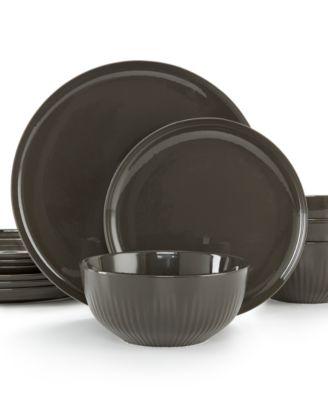 Modern Porcelain 12-Pc. Dinnerware set, Service for 4, Created for Macy's