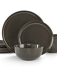 Hotel Collection Modern Porcelain 12-Pc. Dinnerware set, Service for 4, Created for Macy's