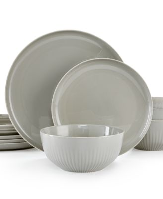 hotel collection modern porcelain 12 pc dinnerware set service for 4 created for macys dinnerware dining entertaining macys - Modern Dinnerware