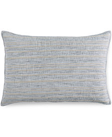 Hotel Collection Linen Stripe Quilted Standard Sham, Created for Macy's