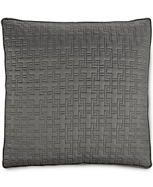 Hotel Collection Embroidered Frame Quilted European Sham, Created for Macy's