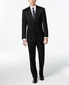 Black Solid Modern-Fit Suit